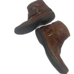 Clarks Shoes - Clarks Brown Leather Booties - Artisan